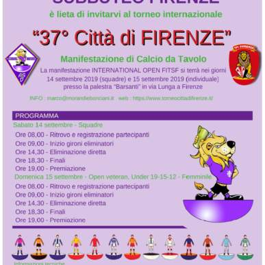 "International Open FISTF ""37° Città di Firenze"""