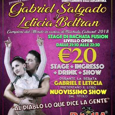 Gabriel Salgado y Leticia Beltran Stage & Show @Le Le Bahia