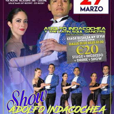 Adolfo Indacochea y The Latin Soul Dancers in Stage e Show