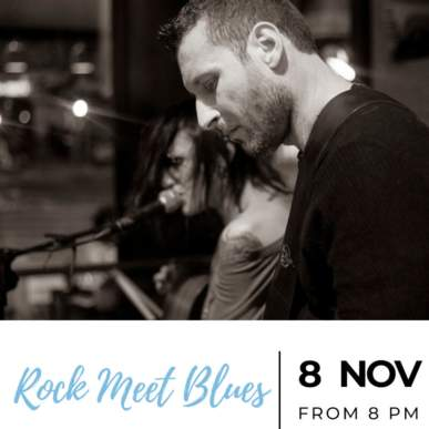Rock Meet Blues – Up On The Roof Music Club @TheIndependentHotel 8 novembre 2019