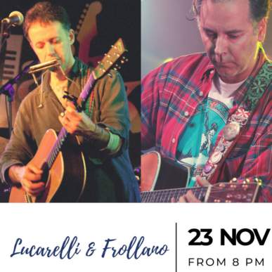 Lucarelli e Frollano- Up On The Roof Music Club @TheIndependentHotel 23 novembre 2019