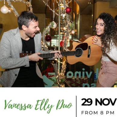 Vanessa Elly Duo – Up On The Roof Music Club @TheIndependentHotel 29 novembre 2019