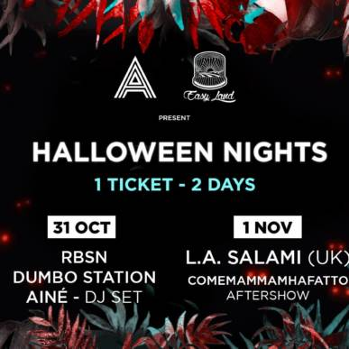 Halloween Nights @ Alcazar 31/10/18-01/11/18