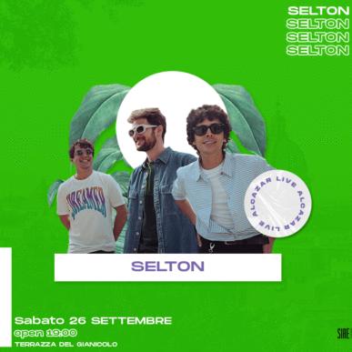 SELTON @ Terrazza del Gianicolo – Alcazar Summer 26/09/20