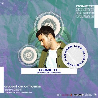Nastro Azzurro presenta COMETE + TONNO @ Terrazza del Gianicolo – Alcazar Summer 08/10/20