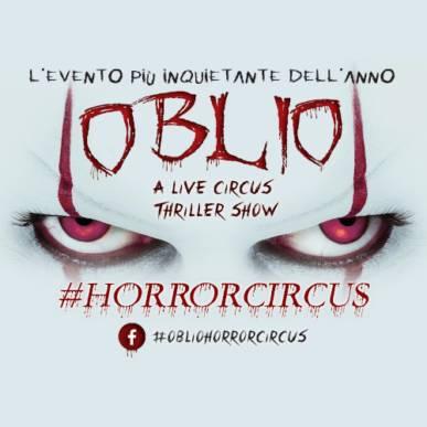 Oblio A Thriller Circus Show @Cagliari 15 ottobre 2020