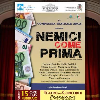 NEMICI COME PRIMA – commedia brillante