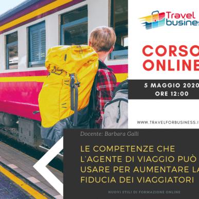 Corso online: Le competenze che l'agente di viaggio può usare per aumentare la fiducia dei viaggiatori