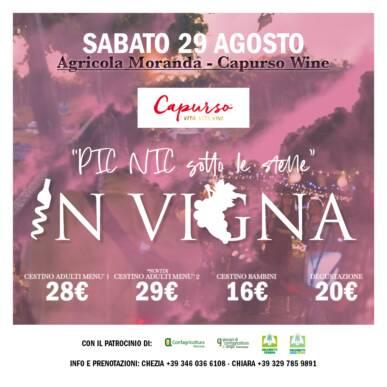 Pic Nic sotto le stelle – Agricola Moranda_ Capurso wine