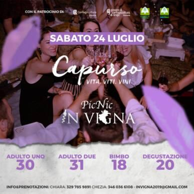 Pic Nic InVigna sotto le stelle – Agricola Moranda_ Capurso wine