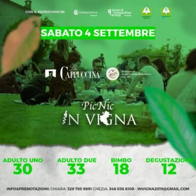 PicNic InVigna nel parco sotto le stelle – La Cappuccina Wines – Monteforte D'Alpone