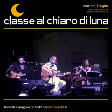 Concerto tributo De Andrè – Faber's Social Club | Classe al chiaro di Luna 2020