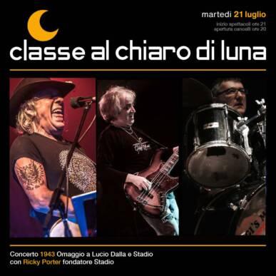 Concerto tributo Lucio Dalla e Stadio – 1943 – Classe al Chiaro di Luna 2020