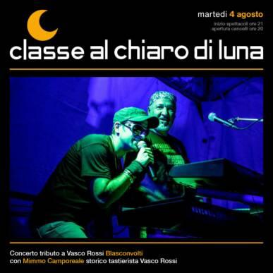 Concerto tributo Vasco Rossi – Blasconvolti – Classe al Chiaro di Luna 2020