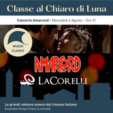 Le grandi colonne sonore del cinema Italiano – CONCERTO AMARCORD – CLASSE AL CHIARO DI LUNA