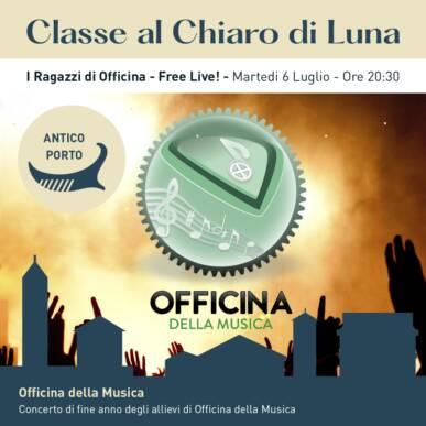 I Ragazzi di Officina – Free Live, concerto live acustico – CLASSE AL CHIARO DI LUNA