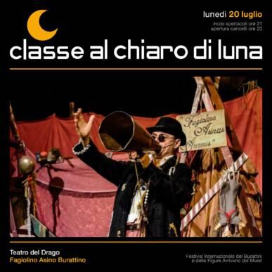 Spettacolo di burattini – Fagiolino Asino Burattino – Classe al Chiaro di Luna 2020