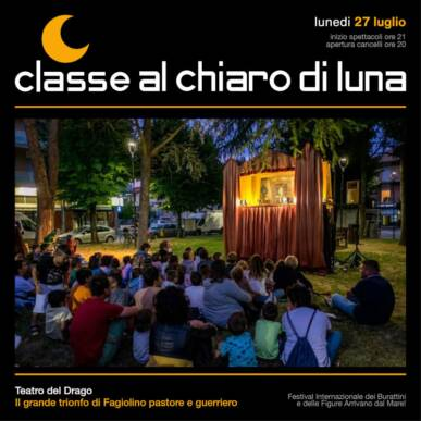 Spettacolo di burattini – Il grande trionfo di Fagiolino pastore e guerriero – Classe al Chiaro di Luna 2020