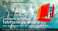 """I GIUDICI: Tributo a Fabrizio de Andrè – """"Non al denaro, non all'amore nè al cielo"""""""