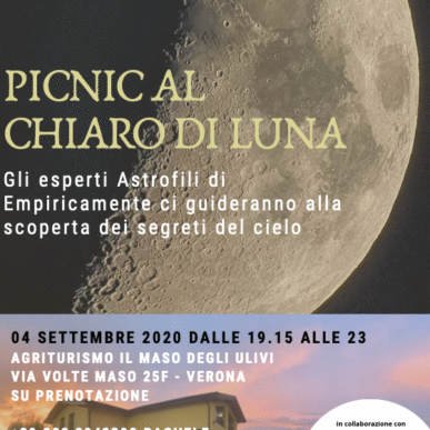Picnic al chiaro di Luna @IlMasodegliUlivi 04/09/2020