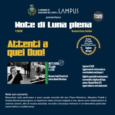 Attenti a quei Duo (Notte Verde) – Massimo FEDELI e Andrea BIONDI