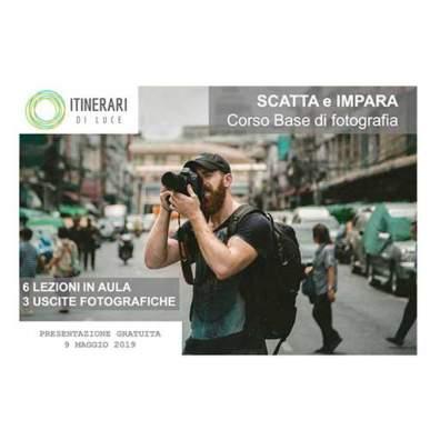 """""""Scatta e Impara"""": nuovo corso base di fotografia! Presentazione gratuita! Giovedì 9 Maggio 2019"""