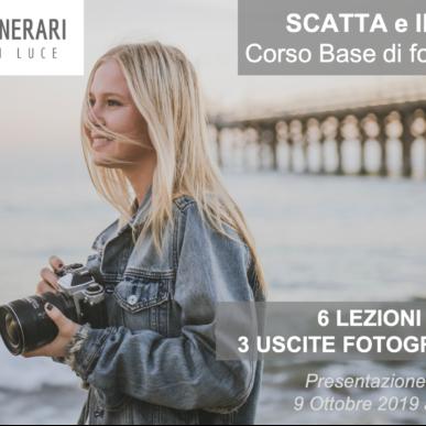 """""""Scatta e Impara"""": nuovo corso base di fotografia! Mercoledì 16 Ottobre 2019!"""