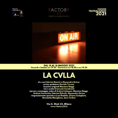 LA CVLLA – Venerdì 14 Maggio 2021 ore 19.30