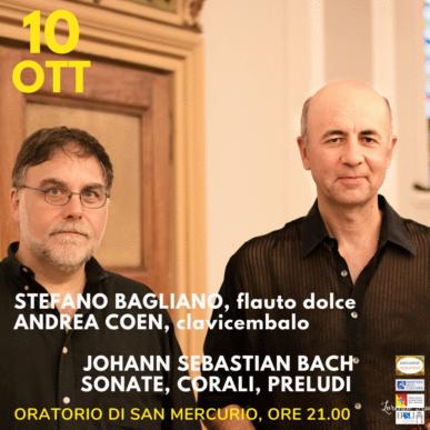 """Stefano Bagliano, Andrea Coen, """"Sonate, Preludi e Corali di J.S. Bach"""""""