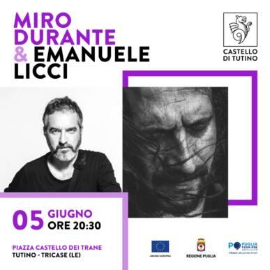 Cena con Spettacolo – Miro Durante & Emanuele Licci