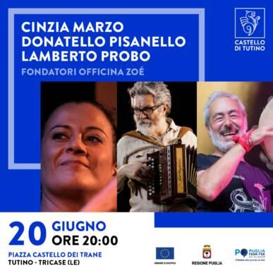 Spettacolo con degustazione – Cinzia Marzo, Donatello Pisanello, Lamberto Probo @ Castello di Tutino