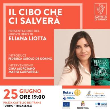 """Aperitivo letterario con Eliana Liotta che presenta """"Il cibo che ci salverà"""""""