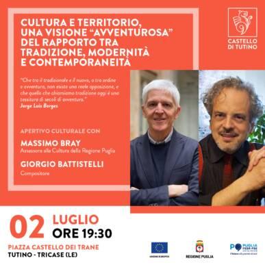 Aperitivo culturale con Massimo Bray e Giorgio Battistelli