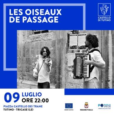 Concerto – Les Oiseaux de Passage – Castello di Tutino – 09/07/2021
