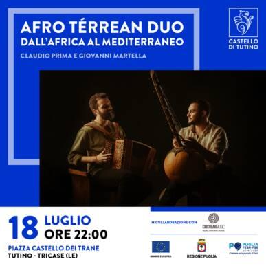 Concerto Afro-Térrean Duo – Claudio Prima e Giovanni Martella – Castello di Tutino 18/07/2021