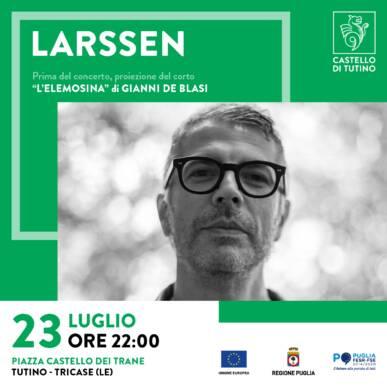 Concerto LARSSEN & proiezione del corto L'ELEMOSINA di Gianni de Blasi