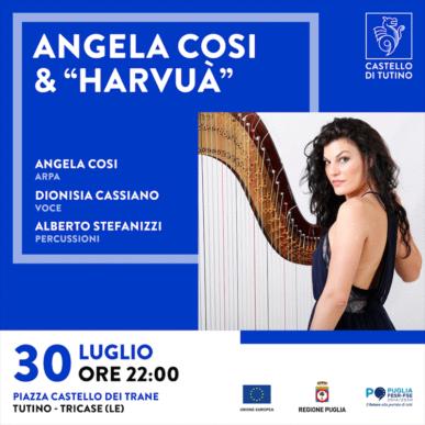 """Concerto – Angela Cosi & """"Harvuà"""" – Castello di Tutino 30/07/2021"""