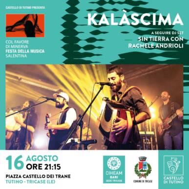 Kalàscima – Col favore di Minerva, Festa della musica salentina @ Castello di Tutino 16/08/2021