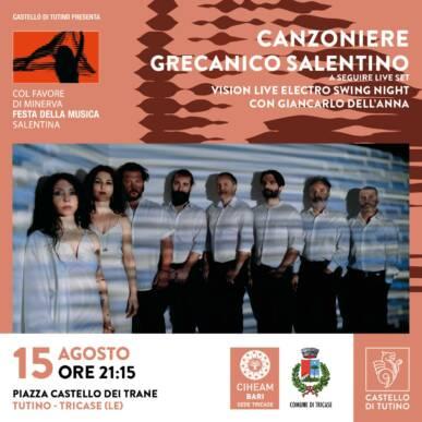 Canzoniere Grecanico Salentino – Col favore di Minerva, Festa della musica salentina @Castello di Tutino 15/08/2021