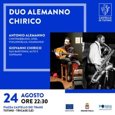Concerto – Duo Alemanno / Chirico – Castello di Tutino 24/08/2021 – ore 22:30