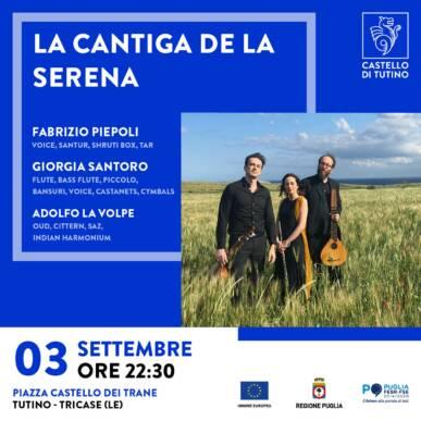 Concerto – La cantiga de la Serena – Castello di Tutino 03/09/2021 – ore 22:30