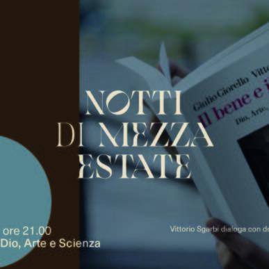 """Vittorio Sgarbi con don Alessio Geretti presentano """"Il bene e il male. Dio, Arte e Scienza"""" @ Chiesetta di Santa Maria del Mare il 3 Agosto"""
