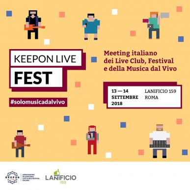 KeepOn LIVE FEST 2018_ Cauzione associati