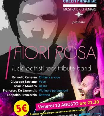 Musica dal Vivo – FIORI ROSA – Area Cinema Green Paradise il 10 agosto 2018