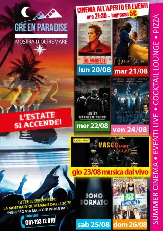 ORE 15:17 ATTACCO AL TRENO Area Cinema Green Paradise il 22 agosto 2018