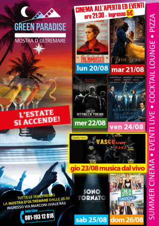 SONO TORNATO Area Cinema Green Paradise il 25 agosto 2018