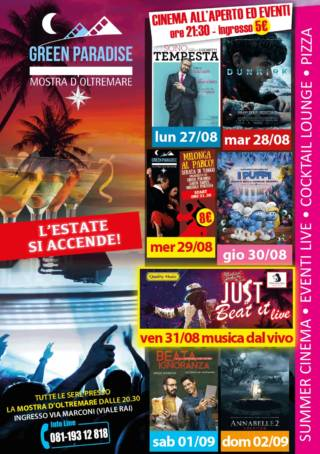 IO SONO TEMPESTA Area Cinema Green Paradise il 27 agosto 2018