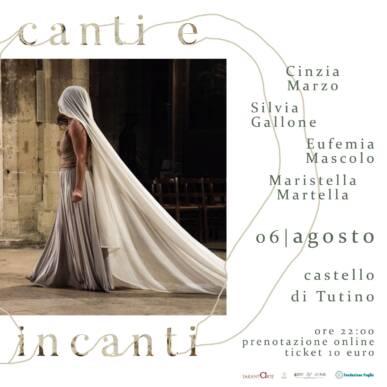 """KORE ENSEMBLE """"Canti e Incanti"""" 06/08/2021 @Castello di Tutino – rassegna Canti e Incanti di Tarantarte"""