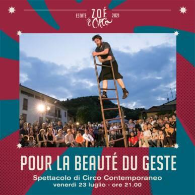 """★ """"POUR LE BEAUTE DU GESTÉ"""" ★ SPETTACOLO CIRCO – 23/07/21"""
