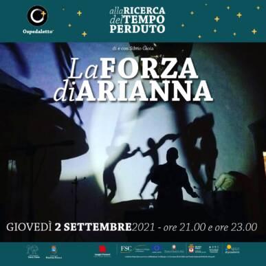 La Forza di Arianna – spettacolo di ombre cinesi – ore 21:00